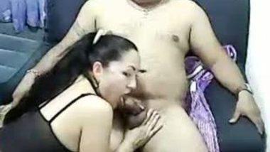 Sex massage by office secretary Tina with boss