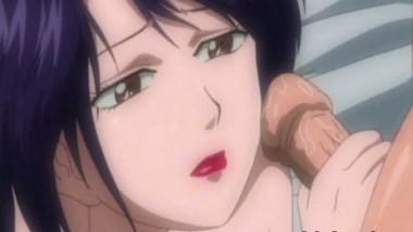 Brunette anime Facial