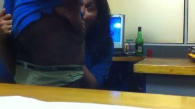 Desi office girl giving hot blowjob to her boss