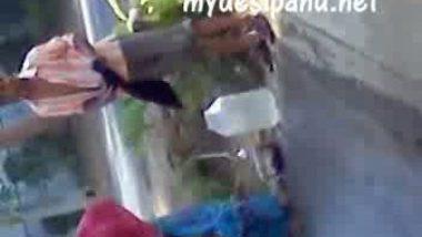 Andhra pradesh village girl outdoor bath scene