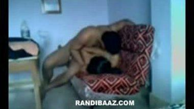 Newly married bhabhi sex with devar on sofa