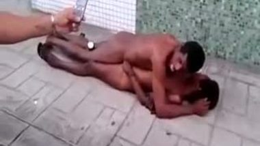 Voyeur records black couple's outdoor public sex