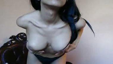 Hot Busty Babe Beaded Glass Didlo Masturbation