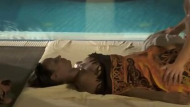 Hot Babes Relax And Get Wet By The Pool