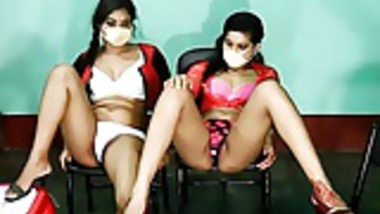 Indian lesbian - Webcam teasing