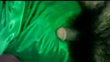 groping maid in satin saree