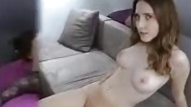 Very hot redhead with her old lover