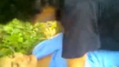 Indian classmate having an outdoor sex