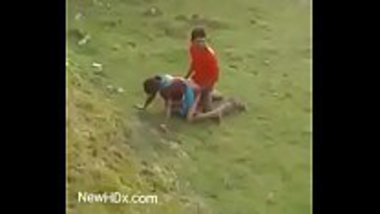 Outdoor doggy sex of a hot village prostitute
