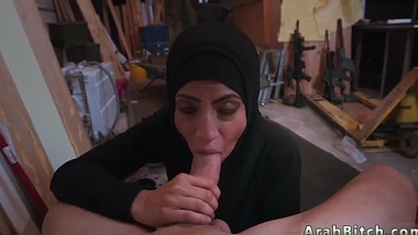 Blowjob swallow white and arab man woman Come and