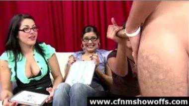 NRI Girl Stroking Penis Of Nude Model