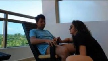 NRI Bhabhi Sucking Cock In Terrace
