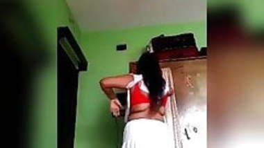 desi mature college girl changing cloth to go for college