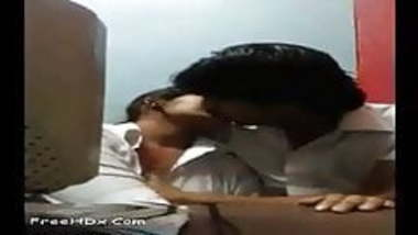 Indian couple hot romance in the Lab