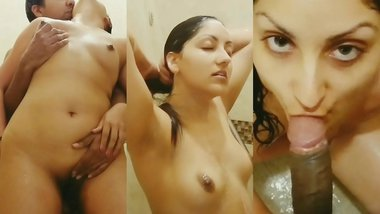 Spying on young sister - she invites brother to join her in the shower