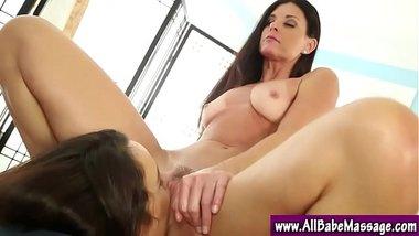 Massage babe lesbian pussy play