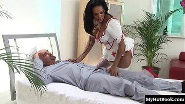 Hot busty nurse India Babe