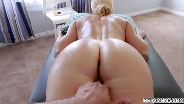 Blonde milf getting a hot massage from her stepson!