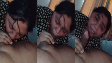 Mature wife blowjob to her pervert husband