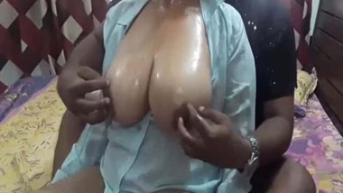 Busty mature aunty porn video