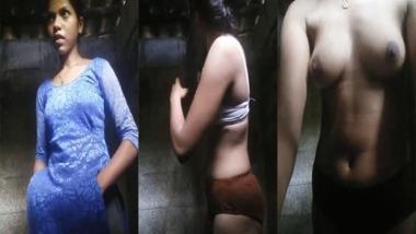 Village girl nude MMS striptease solo video