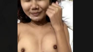 Cute desi girl taking cum with clear audio (talking)