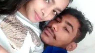 Romantic kiss of desi lovers