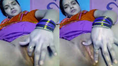 hubby on tour bhabhi fingering her lust itiching wet pussy