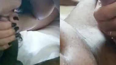 Coloursoflife Desi wife sucking Dick & balls