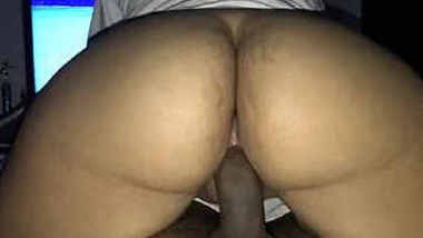 Horny wife loves riding hubby's dick
