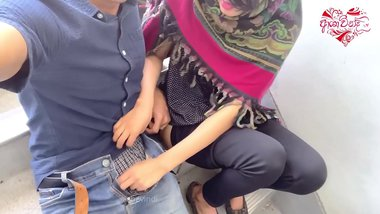 Desi College Girl's Porn With Classmate At Staircase