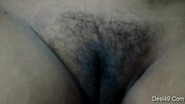 Wife hides tits still the husband manages to film her hairy Desi vag