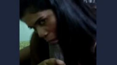 Desi girl blowjob to long black thick dick