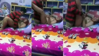 Desperately horny Indian college girl fucked in bed for XXX video