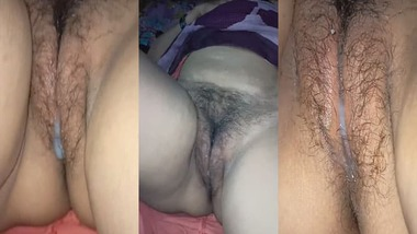 Mature aunty pussy creampie show