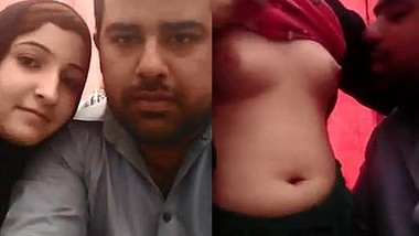 Desi stud makes out with GF and kisses her XXX nipples before sex