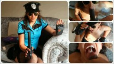 XXX porn video of nri police giving blowjob