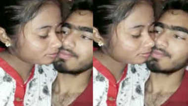Indian chick kisses her sex partner and allows him to touch XXX tits