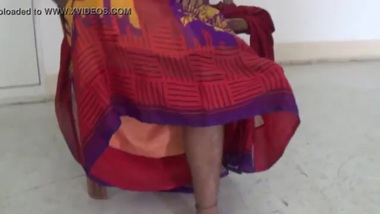 Desi Beautiful aunty relaxing at home lonely aunty