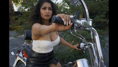 Sexy Bhabi gets naked on Bike - Maya